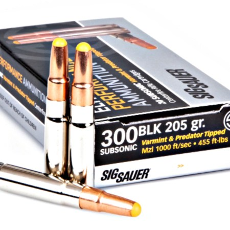 SIG SAUER Subsonic 300BLK Tipped Hunting Ammunition