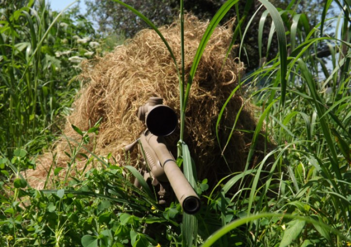 Sniper in Ghillie Suit.