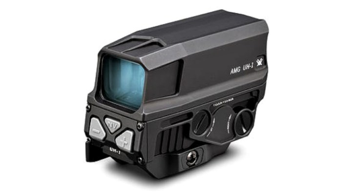 Vortex AMG UH-1 Gen II Holographic Sight with four night-vision compatible settings and a dedicated night-vision button.