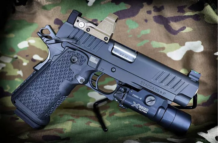 2020 3-Gun Memorial Foundation raffle: Staccato P DUO with a Leupold Delta Point Pro and Surefire X300 Weaponlight
