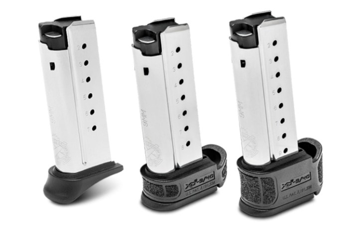 The XD-S Mod.2 OSP 7, 8, and 9 round magazines for Springfield's XD-S Mod.2 OSP Optics Ready 9mm Pistol.