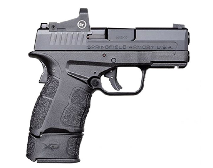 "XD-S Mod.2 OSP 3.3"" 9mm pistol w/ Crimson Trace Red Dot"