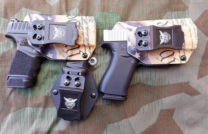 We the People Holsters with Springfield Hellcat and Glock 43X - clips