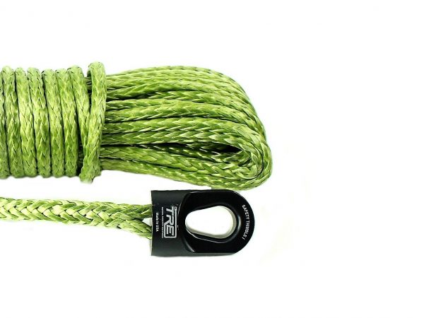 """1/4"""" Military Green Winch Rope & Safety Thimble"""