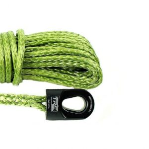 "1/4"" Military Green Winch Rope & Safety Thimble"