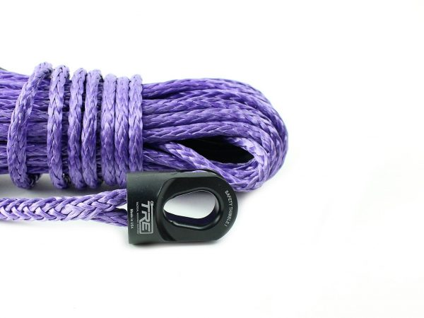 """1/4"""" Purple Winch Rope & Safety Thimble"""