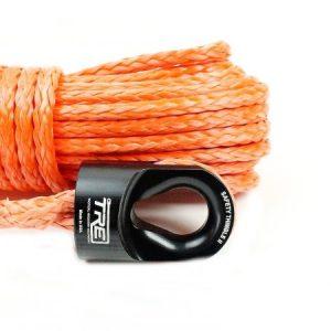 """3/8"""" Orange Winch Rope & Safety Thimble"""