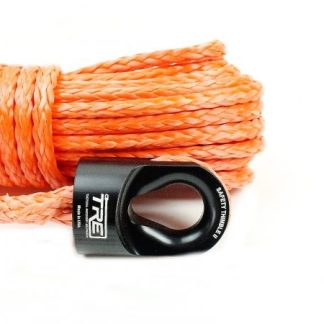 "3/8"" Orange Winch Rope & Safety Thimble"