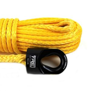 "3/8"" Yellow Winch Rope & Safety Thimble"