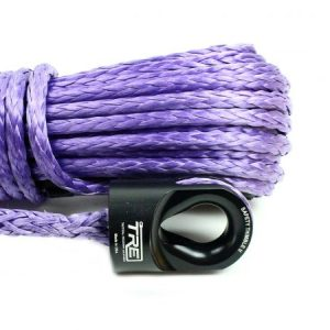 "3/8"" Purple Winch Rope & Safety Thimble"