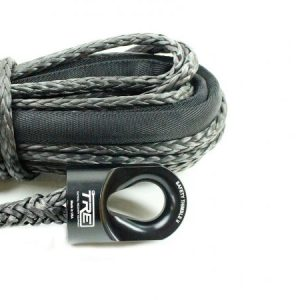 "3/8"" Black Winch Rope & Safety Thimble"