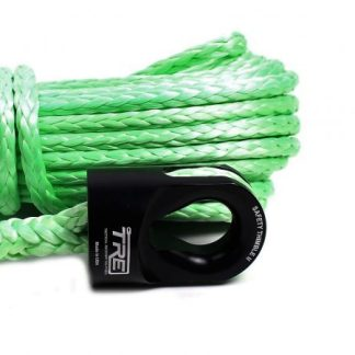"3/8"" Lime Green Winch Rope & Safety Thimble"