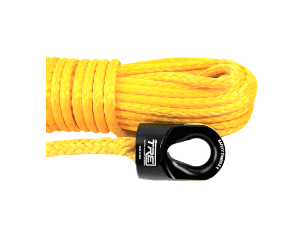 """3/8"""" Yellow Winch Rope & Safety Thimble"""