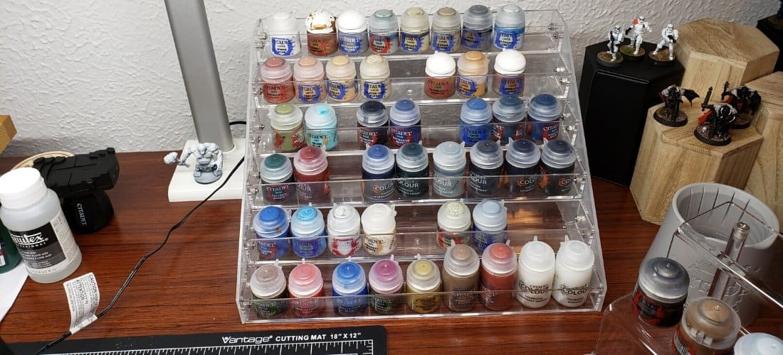 best paint racks to hold acrylic paint