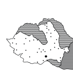 map of romania after the cession of bessarabia, north transylvania and cadrilater