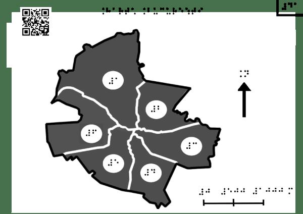 Harta Bucureștiului împărțit pe sectoare