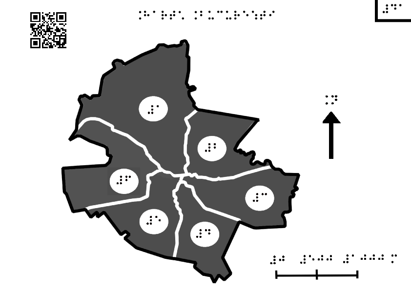 Map of Bucharest divided by districts
