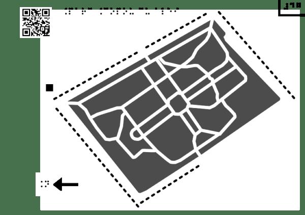 Harta Parcului Copou din Iași cu alei principale