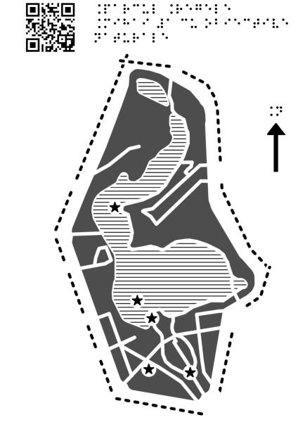 Harta Parcului Regele Mihai Întâi cu obiective naturale