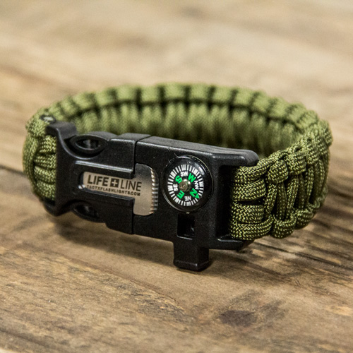 TX-LIFELINE101 - Life Line Survival Wrist Band for outdoor enthusiasts