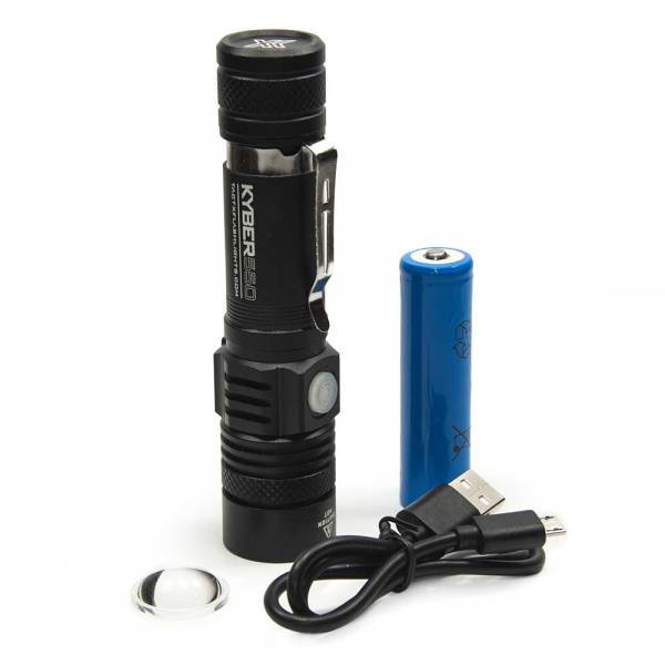 KYBER 550 Compact Tactical Flashlight - lightweight handheld flashlight