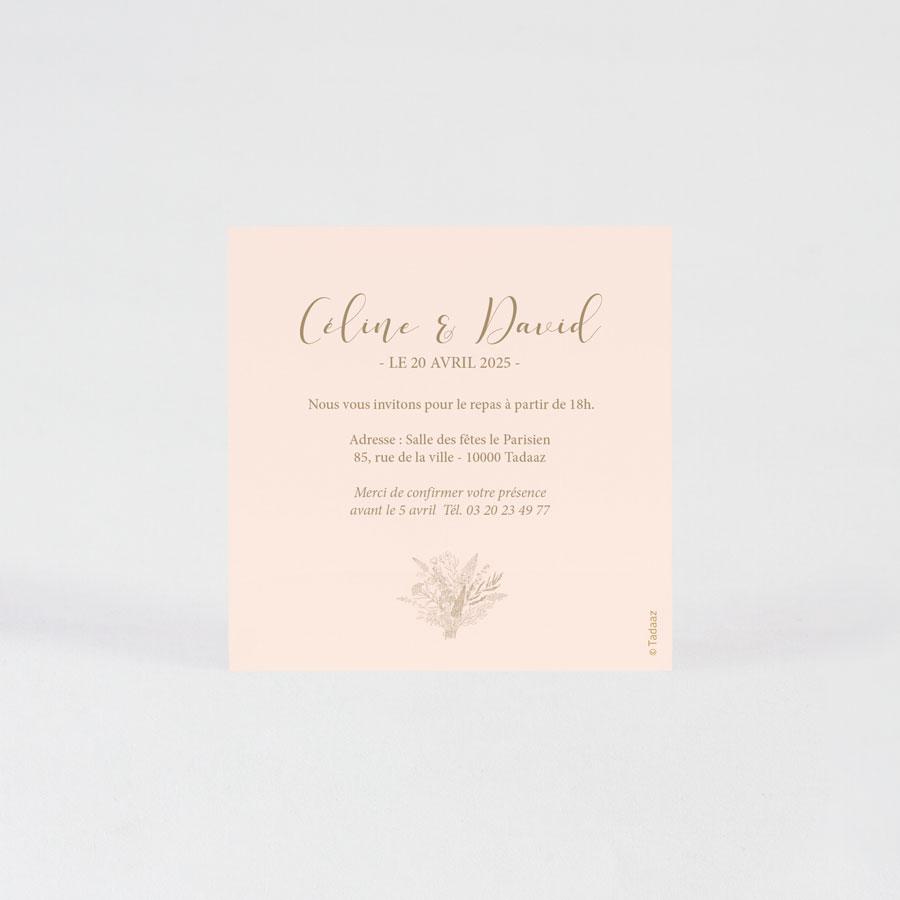 carte d invitation diner mariage vin d