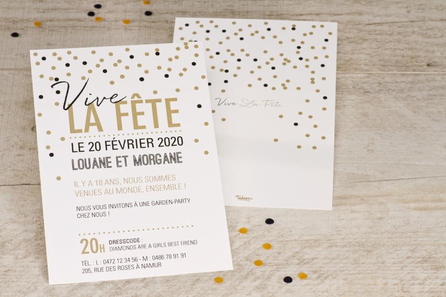 une invitation d anniversaire originale