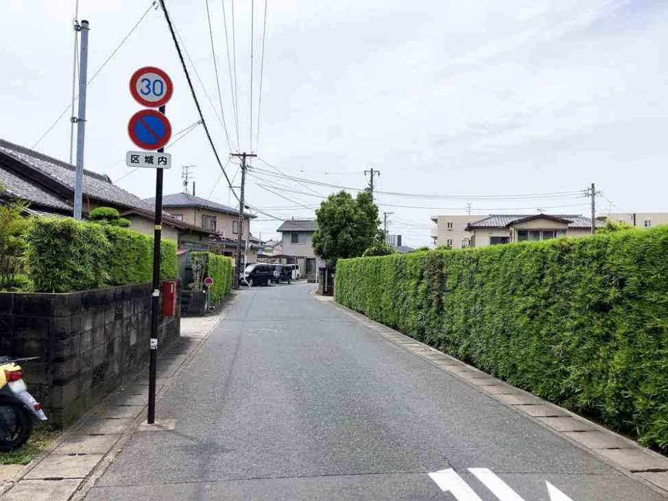 喜慕里の駐車場へのルート1