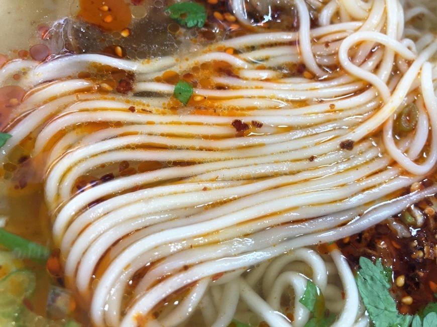 777 中華料理 蘭州拉麺「蘭州牛肉ラーメン」麺