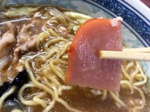 中華料理 澄栄 磐田店「スタミナ味噌ラーメン」ハム