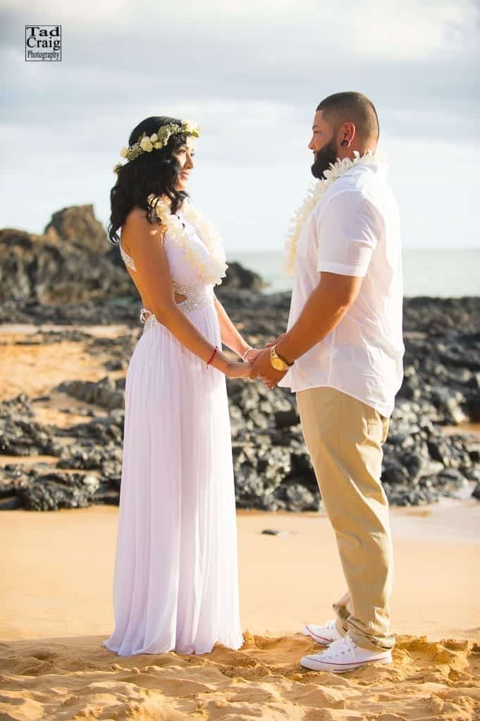 Beach Elopement On Maui Tad Craig Photography