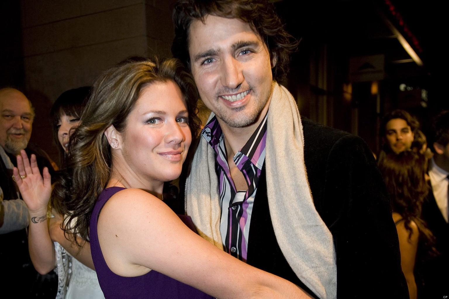 Justin Trudeau with Żona Sophie Grégoire