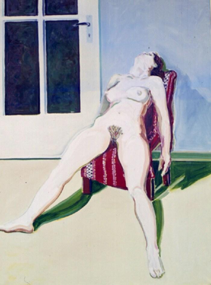1969 06 01 Roter Stuhl II Öl auf Leinwand 135x100 cm