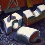 1980 05 03 Muttermal im Schnee Öl auf Leinwand 110x130 cm
