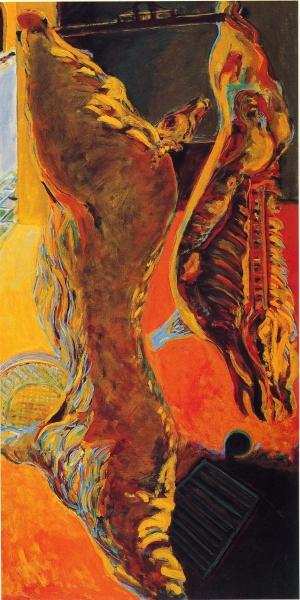 1984 01 21 Pistoia Schlachthof Öl auf Leinwand 200x100 1