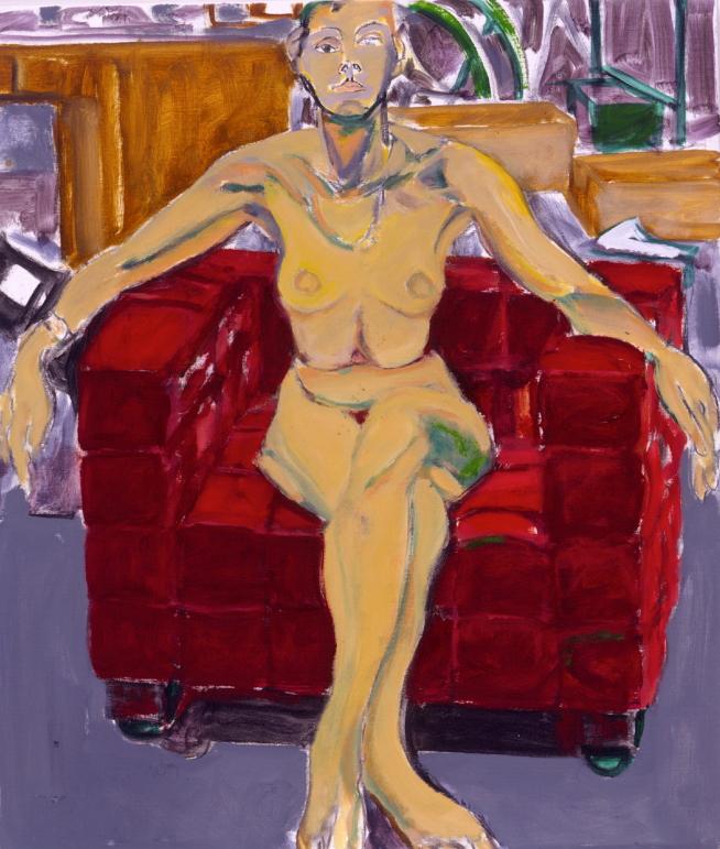1990 18 02 o.T. Acryl auf Nessel 105x90 cm
