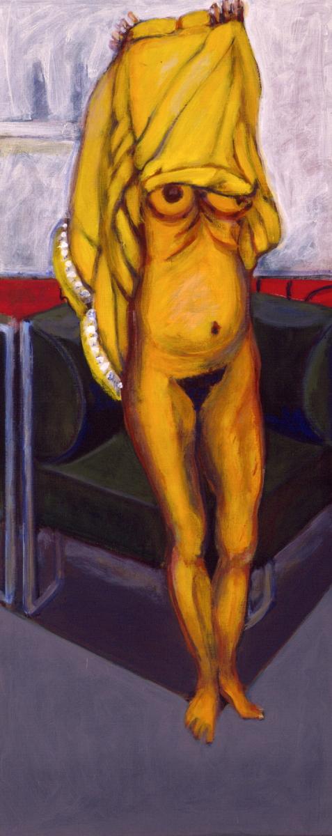1999 08 10 o.T. Acryl auf Leinwand 120x50 cm