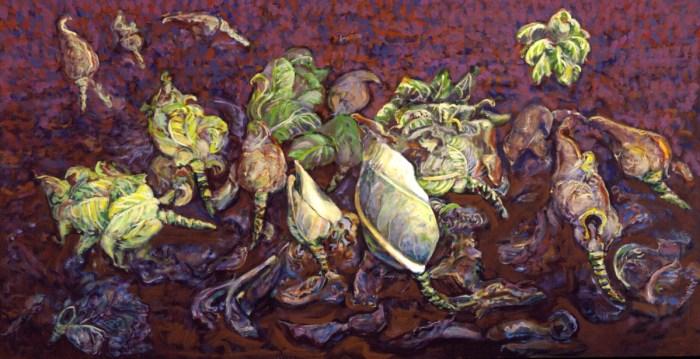 2000 13 01 Kappesfeld quer Acryl auf Leinwand 205x395 cm