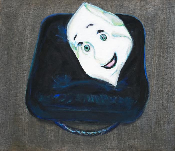 2002 12 02 Maske 2 Acryl auf Leinwand60x70