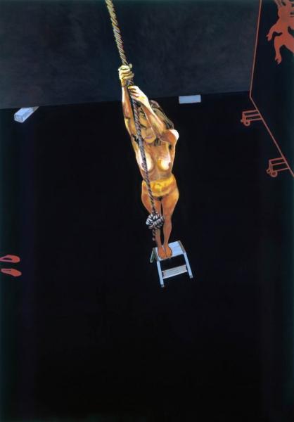 2003 07 06.Graues Treppchen. Acryl auf Leinwand 302x211cm