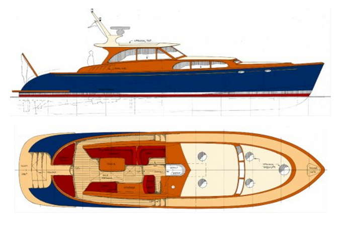 Philbrooks Express 58 Power Boat Designs By Tad Roberts