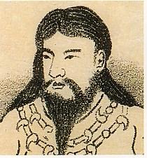 開化天皇肖像画