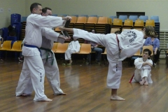 Black Belt Grading Side kick break LH