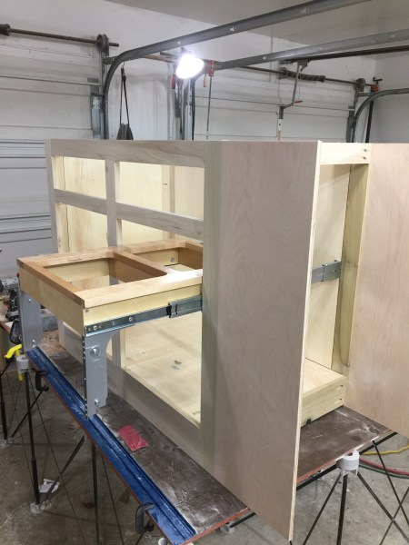 Worthy s Run Furniture     Worthy s Run Furniture takes great pride in     Top is finished and now it s time to start working on the island  This  shows I have the basic frame work of the Island built and is being fitted  with a