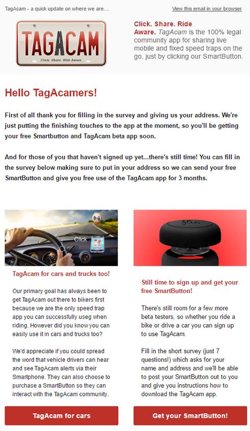 TagAcam's second newsletter