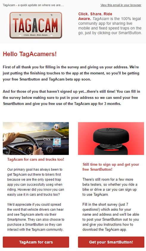 TagAcam's second newsletter