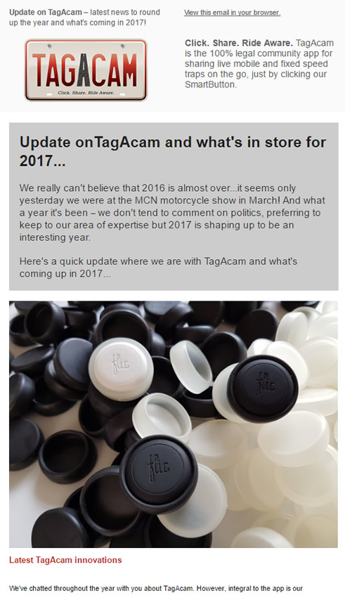 TagAcam's 4th newsletter
