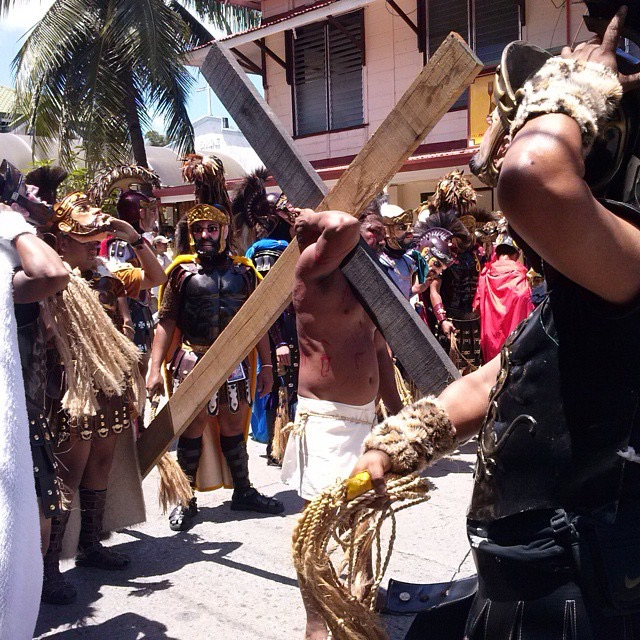 Moriones Festival: Carrying the Cross