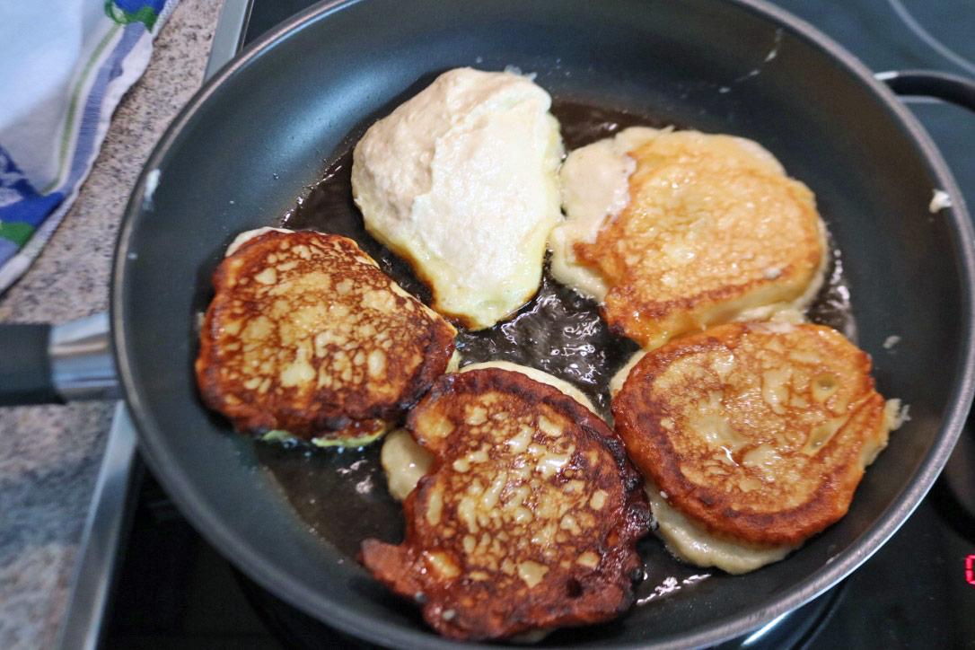 Quarkkeulchen ohne Kartoffeln, Quarkkeulchen Rezept einfach,