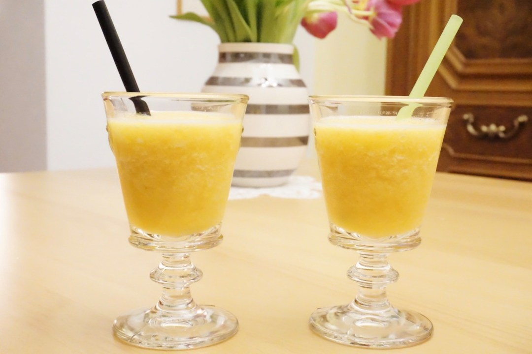 Pfirsich-Orangen-Coctail